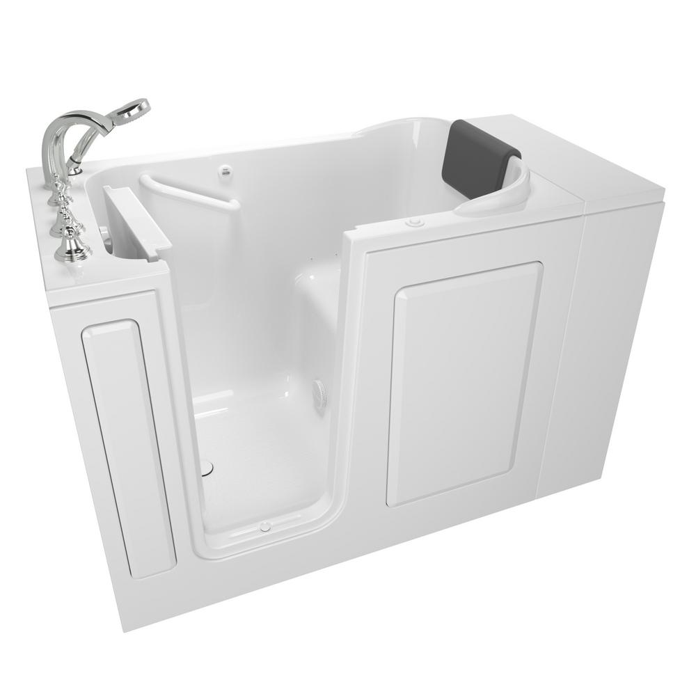 American Standard Gelcoat Premium Series 48 in. Left Hand Walk-In Air Bathtub in White