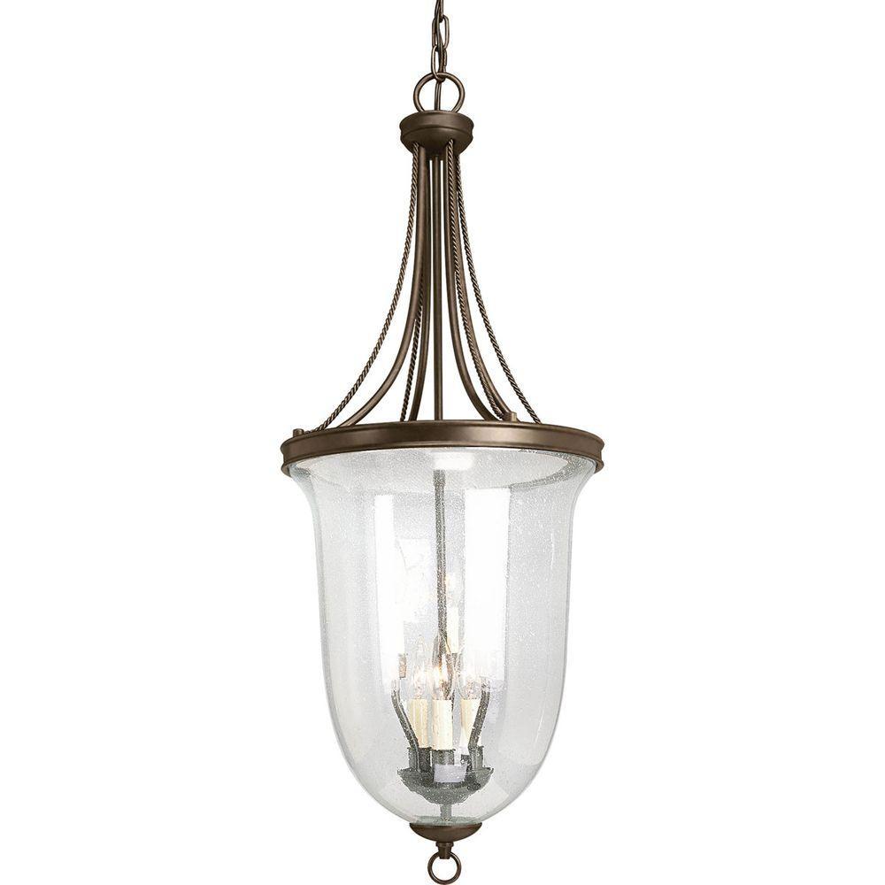 Home Depot Foyer Lighting : Progress lighting seeded glass collection light antique