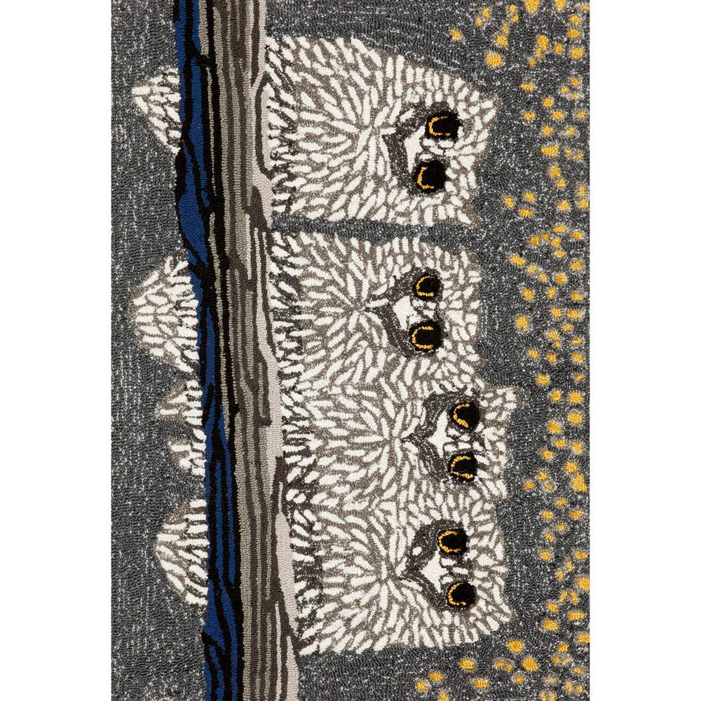 Woodside Prey of Night Black 2 ft. x 3 ft. Rectangle Indoor/Outdoor Area Rug