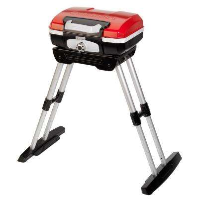 Petit Gourmet 1-Burner Portable Propane Gas Grill in Red with VersaStand