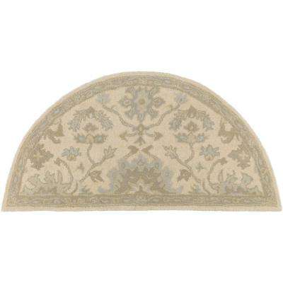 Gilgamesh Beige 2 ft. x 4 ft. Hearth Indoor Area Rug