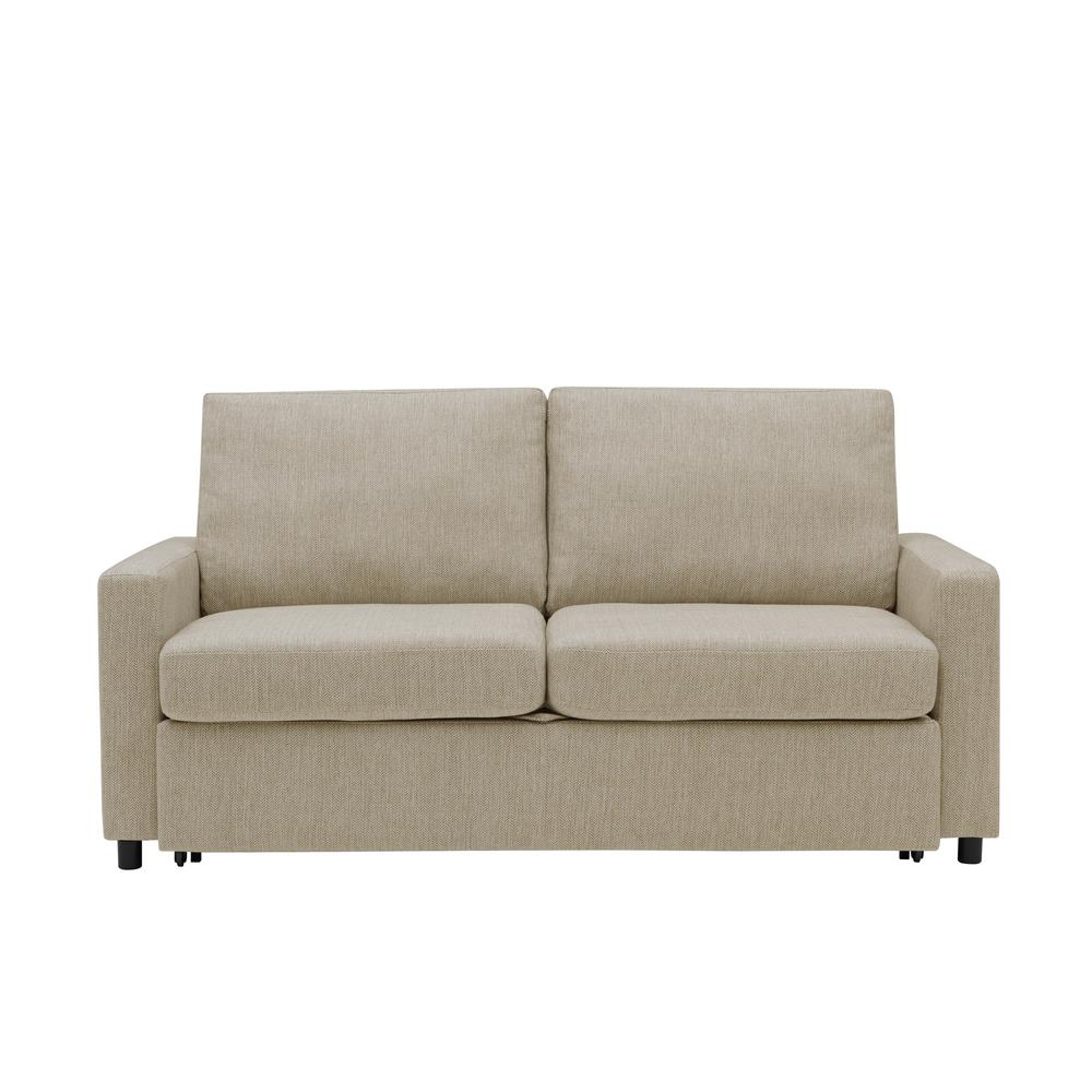 Handy Living Estes Park Sleeper Sofa In Renu Performance Tested Heather Gray Herringbone Fabric