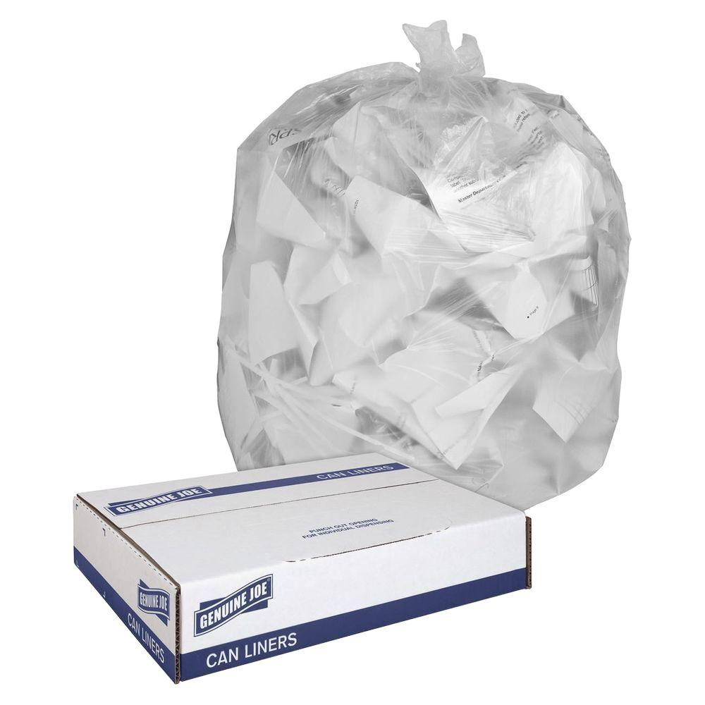 Genuine Joe 16 Gal. Clear Trash Can Liners (500-Count)