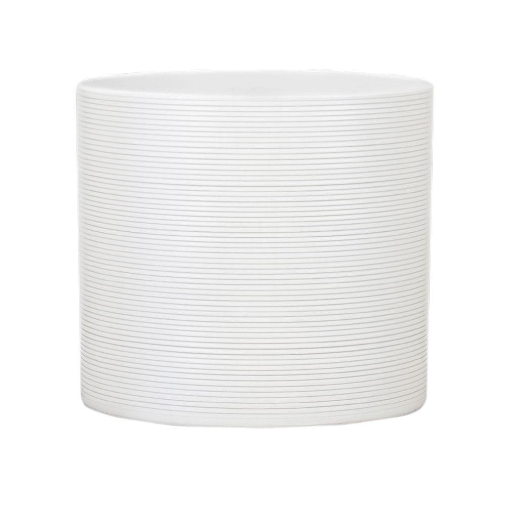 4.5 in. Dia Panna White Ceramic Pot