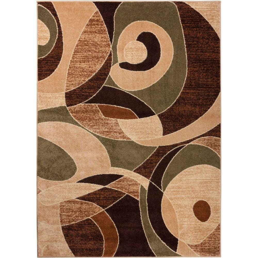 Well Woven Sydney Zen Abstract Mid-Century Green 2 ft. 3 in. x 3 ft. 11 in. Modern Area Rug