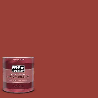 1 qt. #S-H-190 Antique Red Matte Interior Paint and Primer in One
