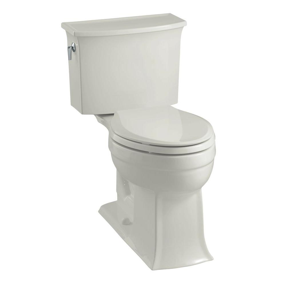 KOHLER Archer Comfort Height 2-Piece 1.6 GPF Elongated Toilet in Ice Gray-DISCONTINUED