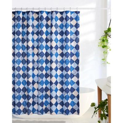 Olivia 72 in. Blue Shower Curtain