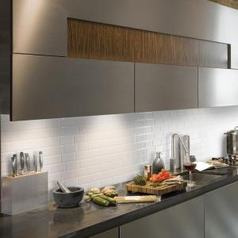 Smart Tiles Metro Blanco 11.56 In. W X 8.38 In. H Peel And Stick
