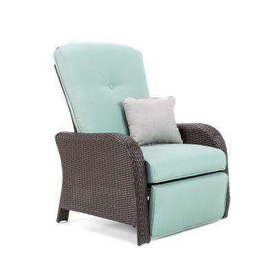 Sawyer Wicker Outdoor Recliner with Sunbrella Canvas Spa Cushion