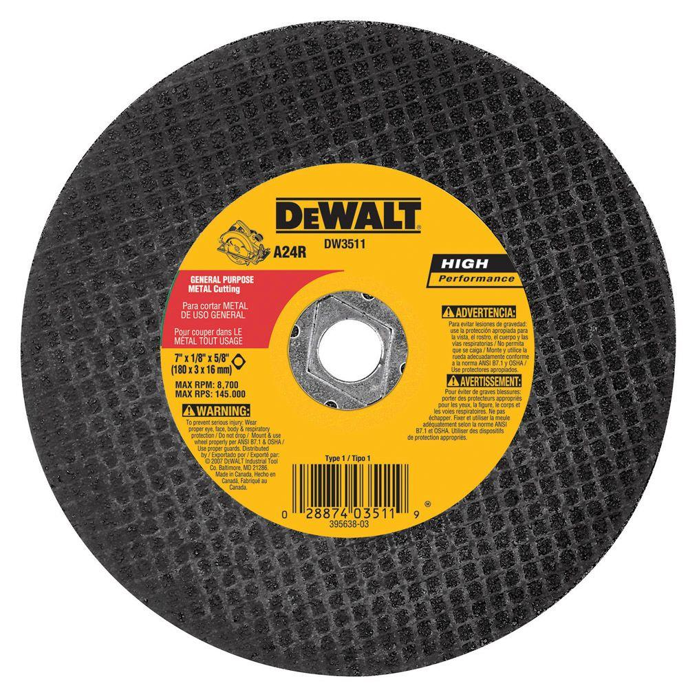 Dewalt 7 in x 18 in metal abrasive saw blade bulk dw3511 the metal abrasive saw blade bulk keyboard keysfo Choice Image