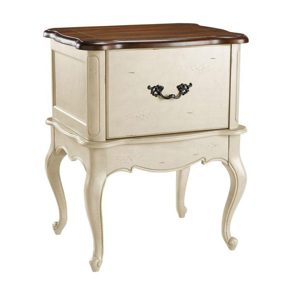Home Decorators Collection Provence Cream and Chestnut File Cabinet