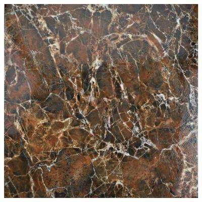 Eclipse Marron 17-3/4 in. x 17-3/4 in. Ceramic Floor and Wall Tile (15.3 sq. ft. / case)