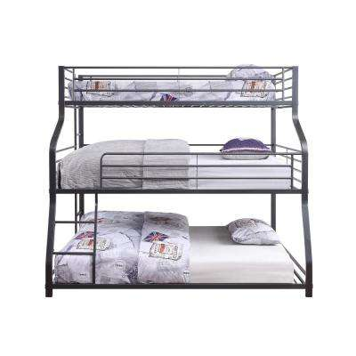 Caius II Gunmetal Triple Bunk Bed