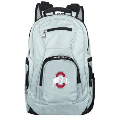 NCAA Ohio State University Buckeyes 19 in. Gray Laptop Backpack