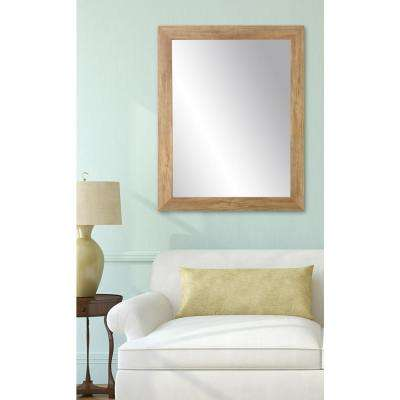Blonde Barnwood Wall Mirror