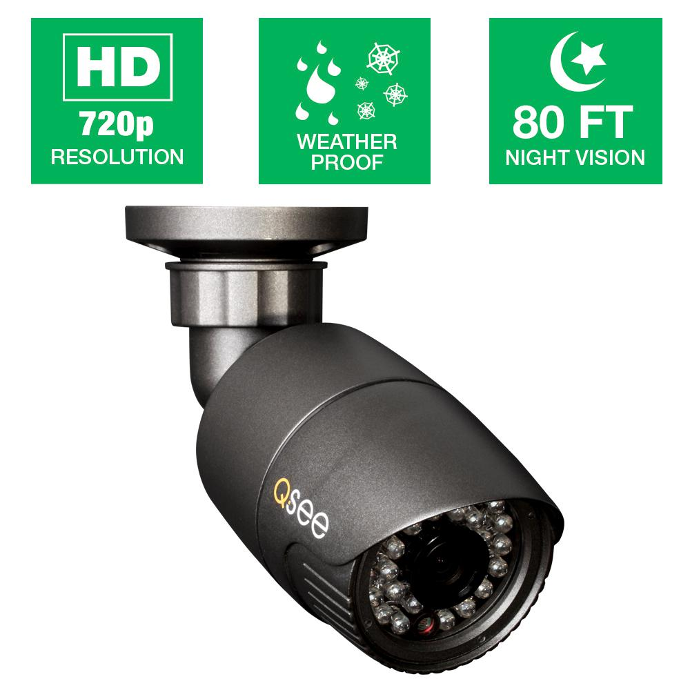 Wired 720p HD Indoor or Outdoor Bullet Standard Surveillance Camera with