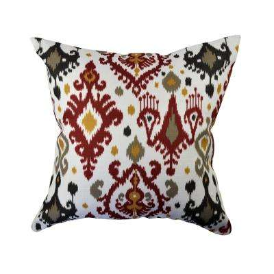 Bold Bohemian Inspired Ikat Throw Pillow