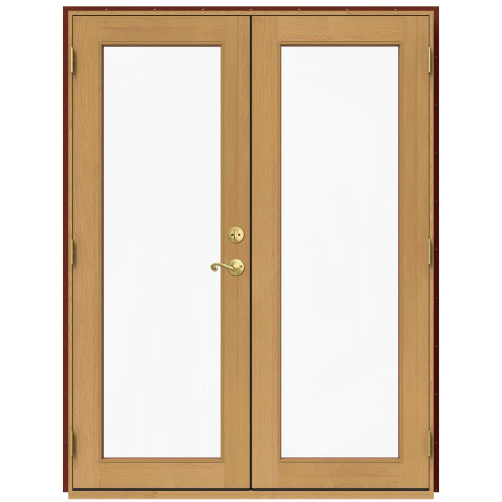 Patio Doors Product: JELD-WEN 60 In. X 80 In. W-2500 Red Clad Wood Right-Hand