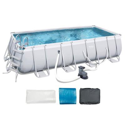 18 ft. x 9 ft. Above Ground Pool Set with Ladder, Pump, and Cartridges (2-Pack)