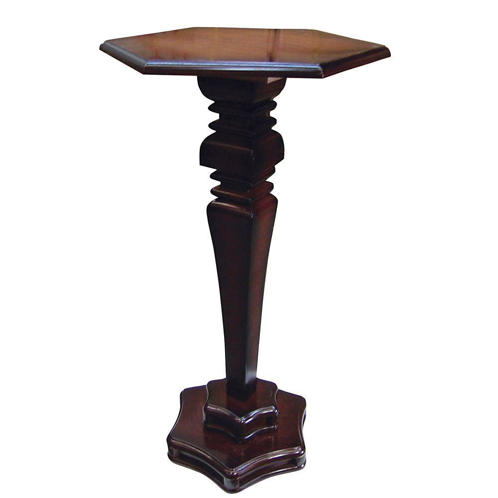 Home Decorators Collection Hexagon Cherry End Table
