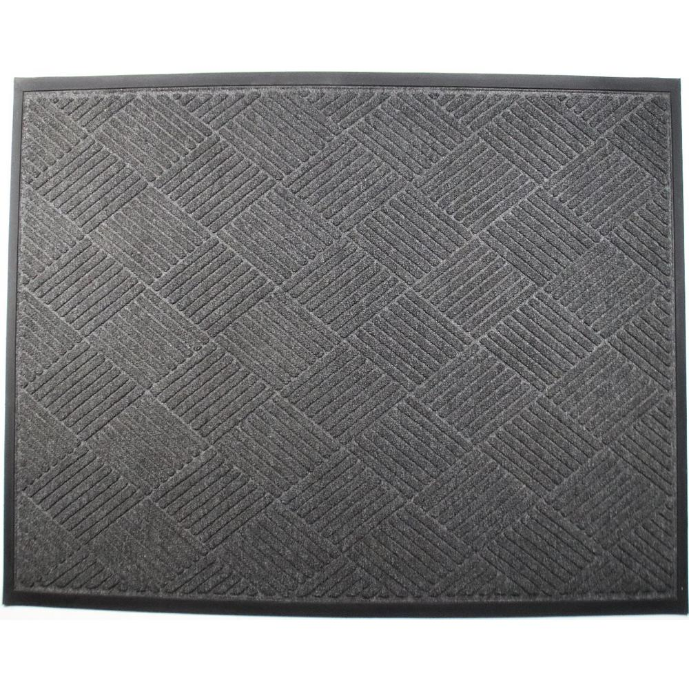 Opus 36 in. x 60 in. Charcoal Entrance Mat