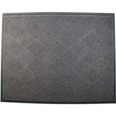 Opus 4 ft. x 6 ft. Charcoal Entrance Mat