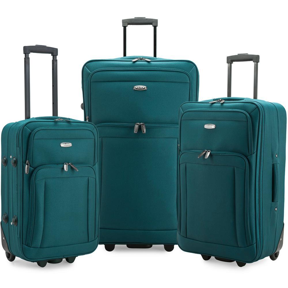 Gondola 3-Piece Teal Softside Rolling Luggage