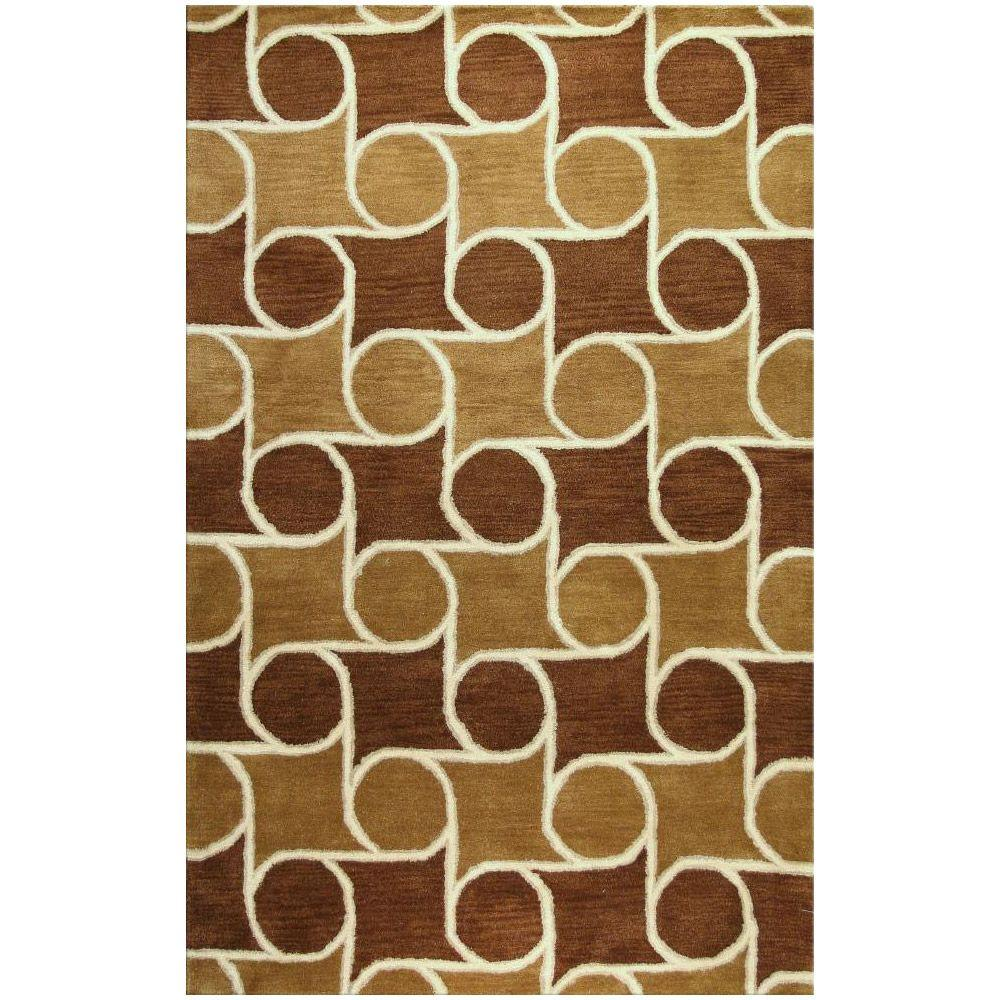 BASHIAN Chelsea Collection Rolls Chocolate 7 ft. 6 in. x 9 ft. 6 in. Area Rug