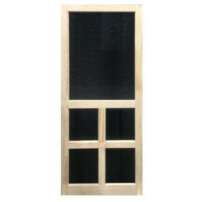 31.75 in. x 79.75 in. Victoria Stainable Screen Door