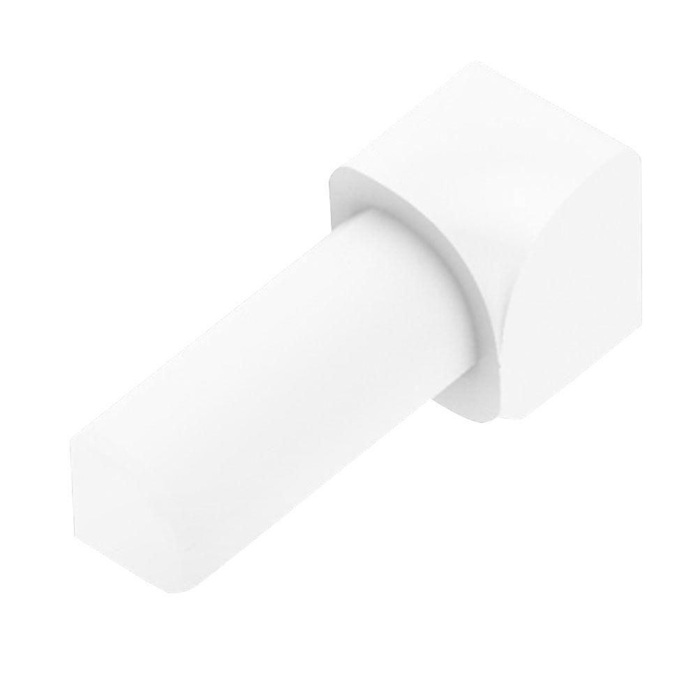 Rondec Bright White Color-Coated Aluminum 3/8 in. x 1 in. Metal