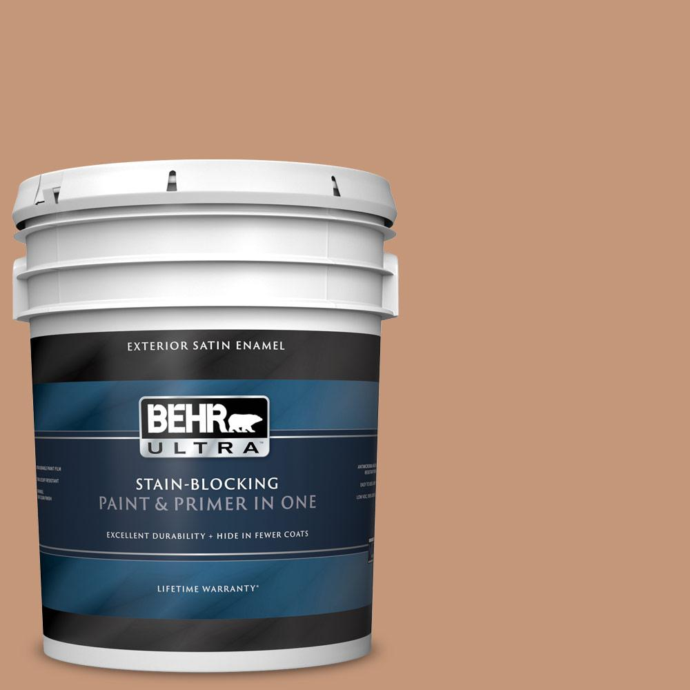 Behr Ultra 5 Gal Home Decorators Collection Hdc Ac 02 Copper Moon Satin Enamel Exterior Paint Primer 985305 The Home Depot