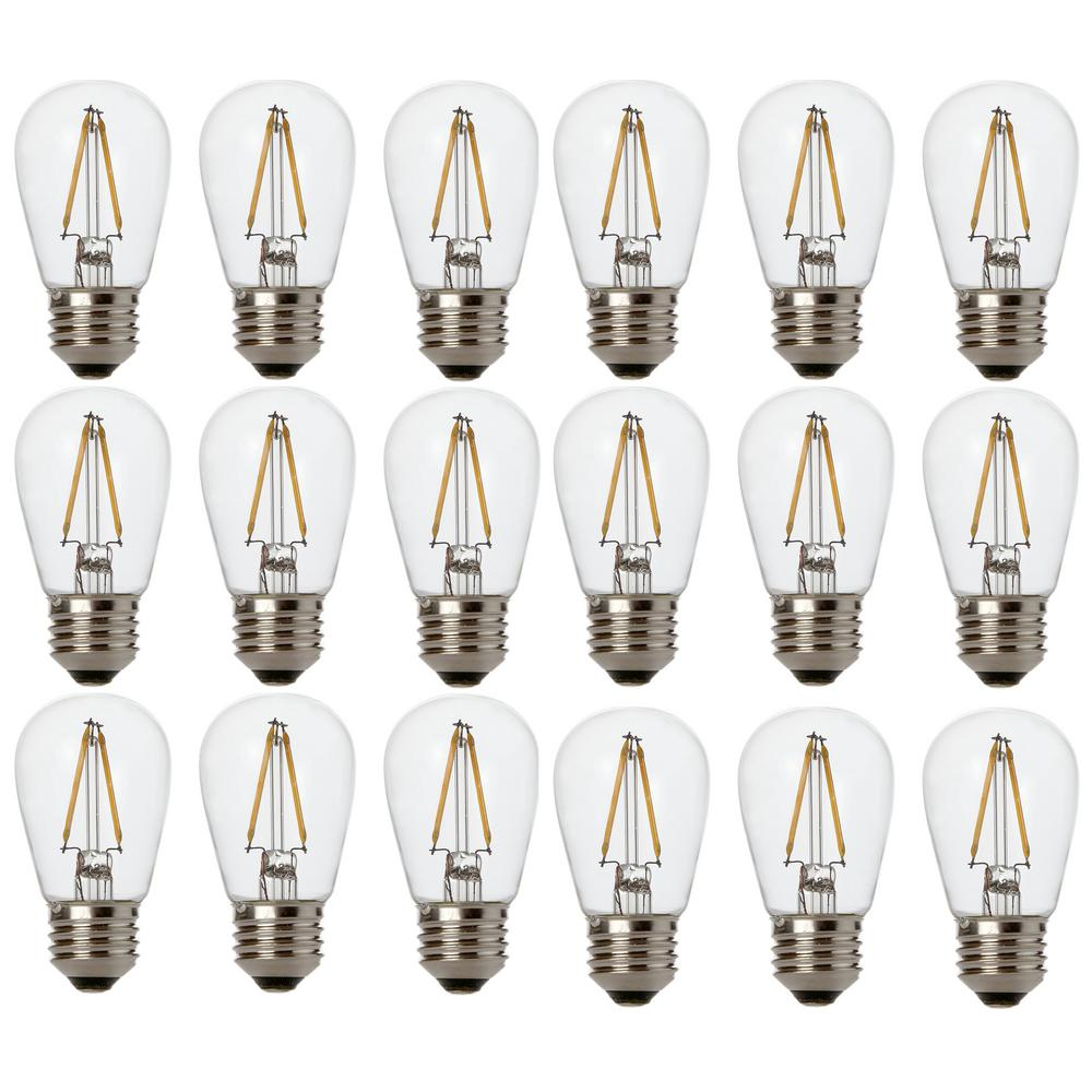 Newhouse Lighting 48 Foot Outdoor String Lights Led Bulbs: Newhouse Lighting Outdoor Weatherproof 11-Watt S14