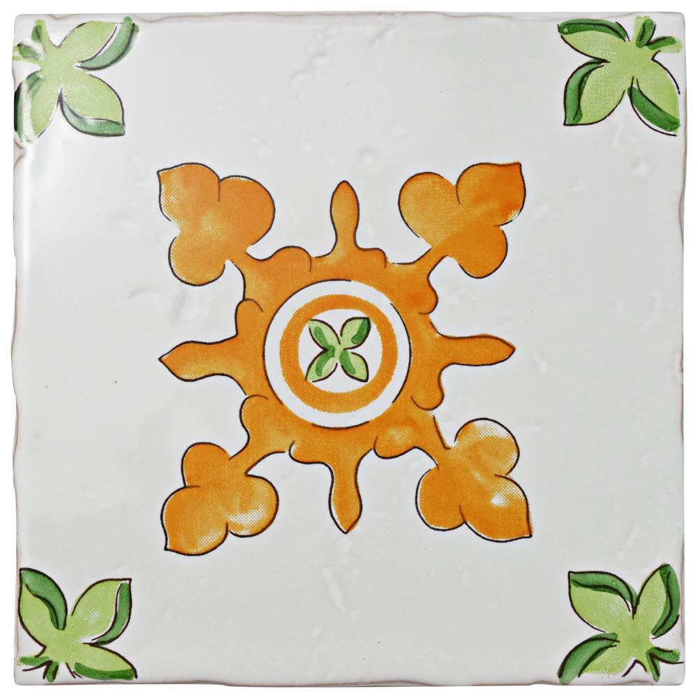 Novecento Centro Paterna 5-1/8 in. x 5-1/8 in. Ceramic Wall Tile