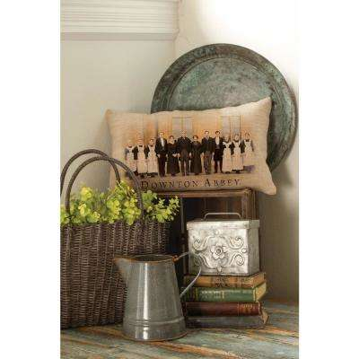 Downton Cast Natural Downstairs Decorative Pillow