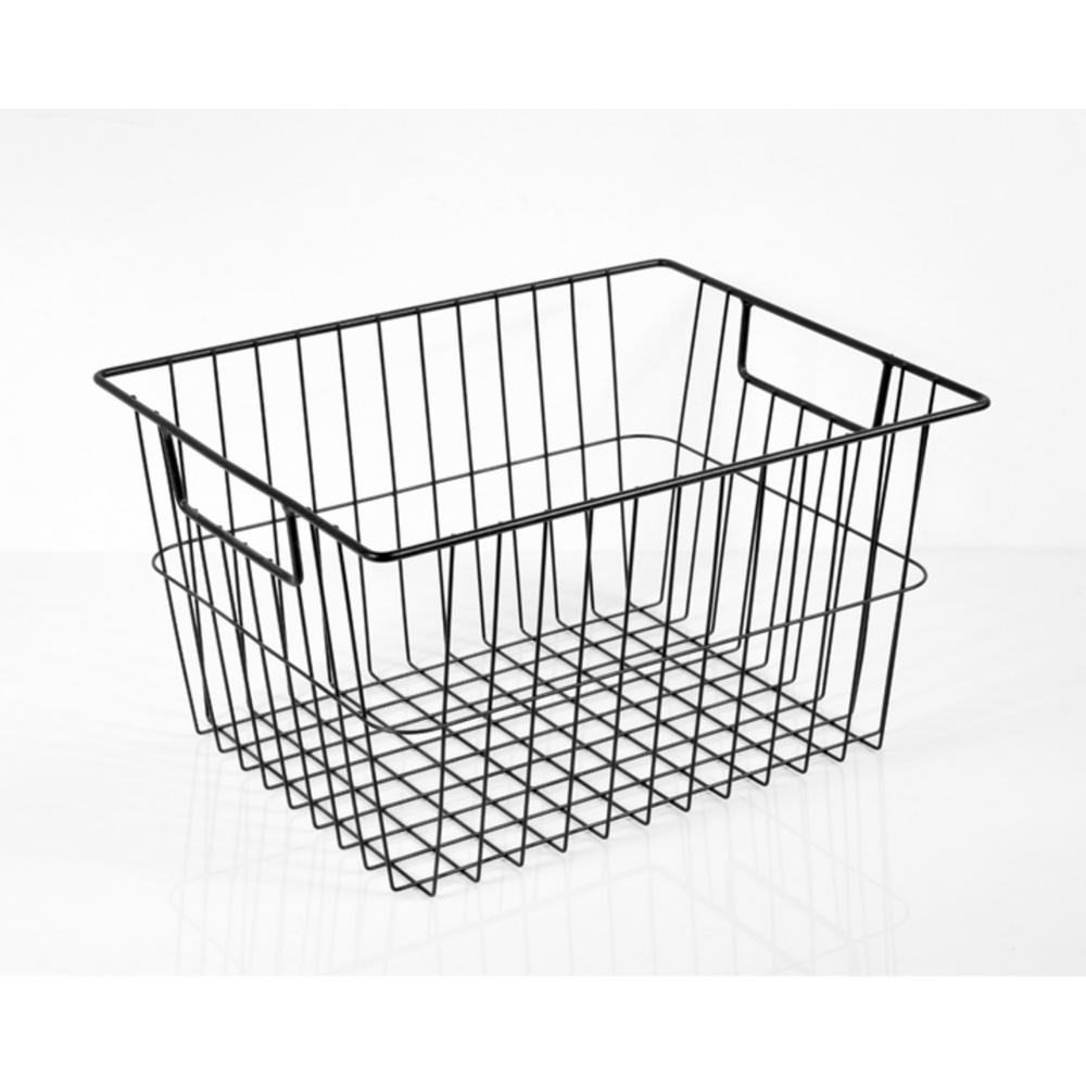 Black Steel Wire Basket Organizer