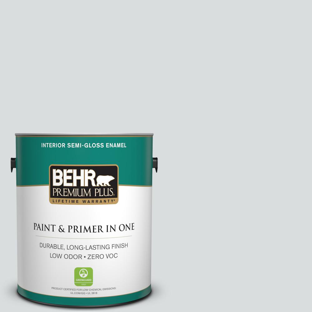 BEHR Premium Plus 1-gal. #N500-1 Shiny Luster Semi-Gloss Enamel Interior Paint