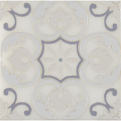 Tetris Florita Blanco 6 in. x 6 in. Polished Marble Wall Tile (5 sq. ft. / case)
