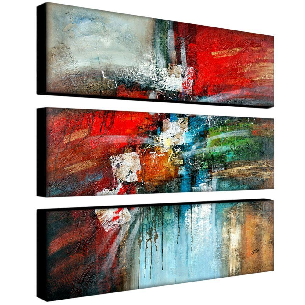 trademark fine art 32 in x 10 in cube abstract iv 3 piece canvas