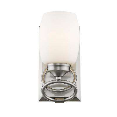 Cadence 1-Light Pewter with Opal Glass Bath Vanity