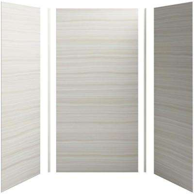 Choreograph 48in. X 36 in. x 96 in. 5-Piece Shower Wall Surround in VeinCut Dune for 96 in. Showers