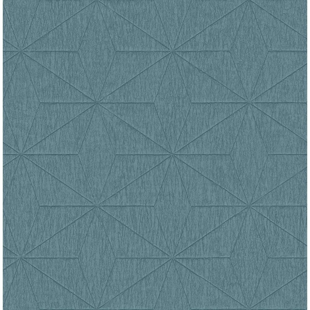 Bernice Teal Geometric Wallpaper