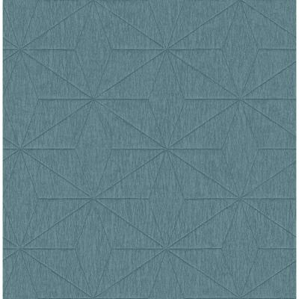 Bernice Teal Geometric Wallpaper Sample