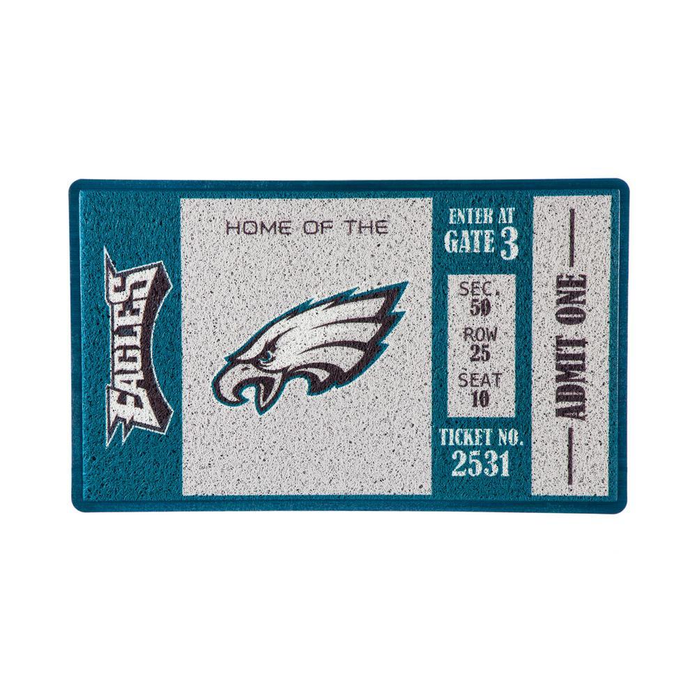 Philadelphia Eagles 30 in. x 18 in. Vinyl Indoor/Outdoor Turf Floor Mat