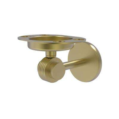 Satellite Orbit 2 Collection Tumbler and Toothbrush Holder with Groovy Accents in Satin Brass