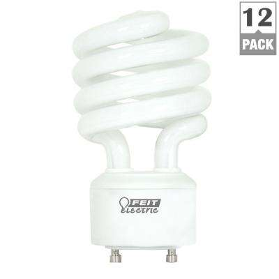 100-Watt Equivalent Soft White (2700K) Spiral GU24 CFL Light Bulb (12-Pack)