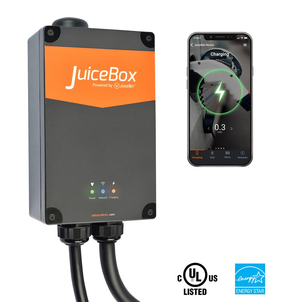 Pro40 Wi Fi Enabled 40 Amp Electric Vehicle Charging Station With 24 Ft Cable Indoor Outdoor Plug In Installation