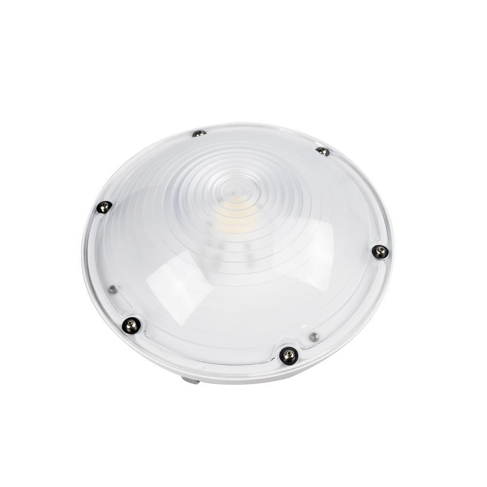 ATG Electronics 40-Watt White Outdoor Integrated LED Area ...