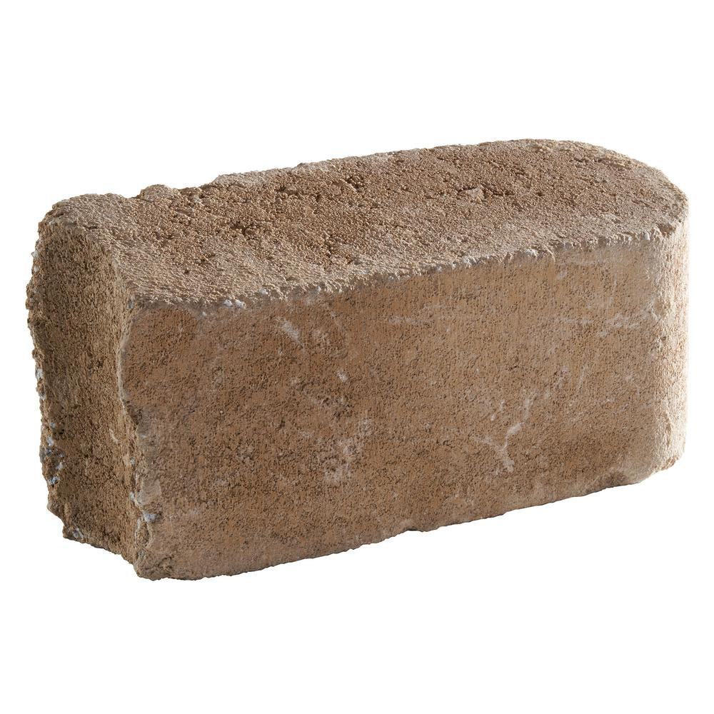 Pavestone RumbleStone 10.5 in. x 3.5 in. x 5.25 in. Cafe Concrete Edger