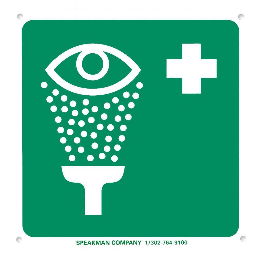Speakman Emergency Eyewash Safety Sign by Speakman